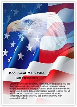 american flag word document template