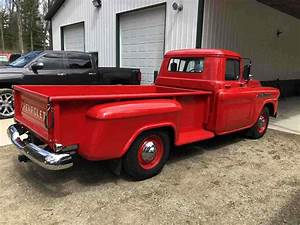 1958 Chevrolet Apache 3800 Pickup Red Rwd Manual For Sale