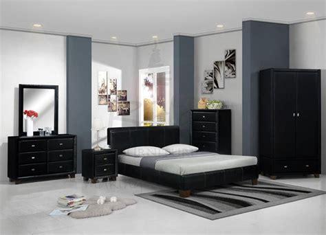 meubles chambres couleur peinture chambre meuble noir idées déco pour