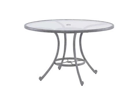 landgrave cast aluminum 48 glass dining table with