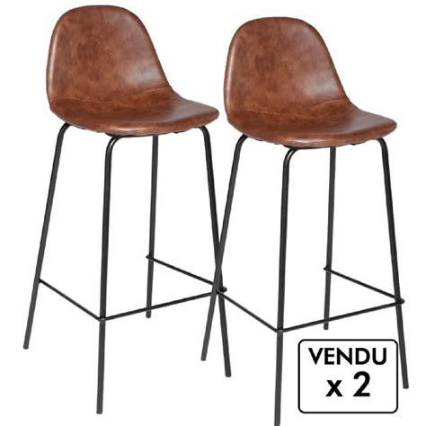 chaise de bar style industriel lot de 2 chaises de bar style industriel coloris