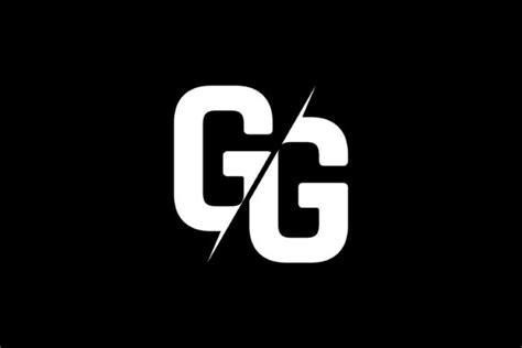 monogram gg logo design graphic  greenlines studios