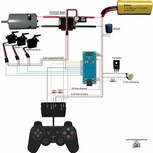 Circuit Diagram Of The Ps2 Controller Demonstration Rig