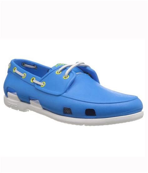 Crocs Boat Shoes Blue by Crocs Blue Boat Style Shoes Price In India Buy Crocs Blue