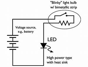easy high power led blinking circuit evil mad scientist With two led strobe flasher hookup to 10 leds