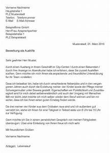 Bewerbung Nebenjob Schüler : muster bewerbung als aushilfe ~ Eleganceandgraceweddings.com Haus und Dekorationen