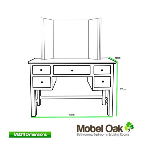 home elegance furniture glenmore oak dressing table and mirror set best price