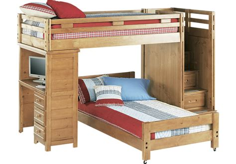 dresser desk combo creekside taffy bunk bed with desk beds