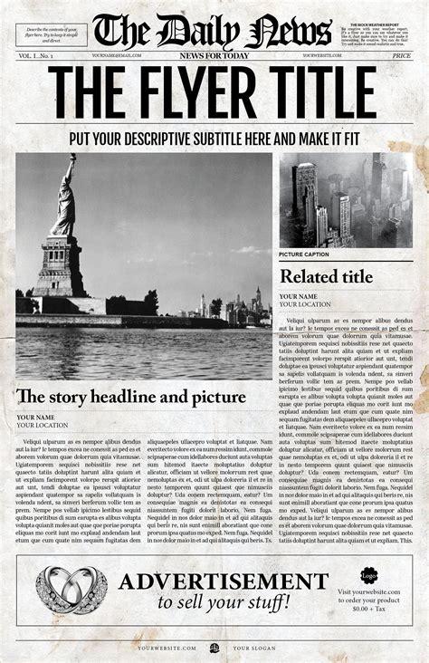 style daily news jpg newspaper template