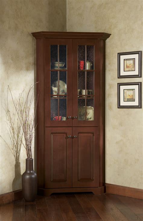 corner cabinet  glass doors homesfeed
