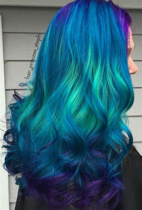 Hair Dye Colours For Hair by Beautiful Teal Blue Dyed Hair Color Bright Hair Colors