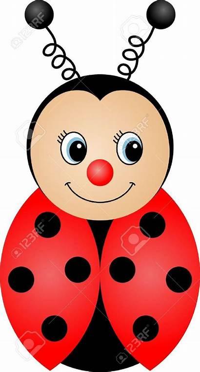 Cartoon Ladybug Clipart Mariquita Clip Bug Lady