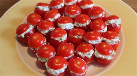recette pour l 39 apéritif tomates cerises au chèvre frais