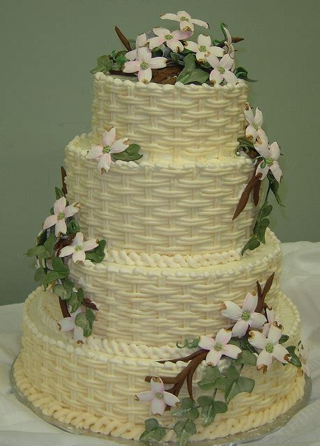 basket weave garden party cakes cake basket cake creations