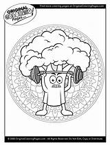 Coloring Broccoli Below Any sketch template