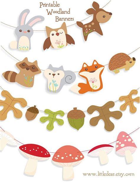 Printable Woodland Mushrooms Bannerby littledear on