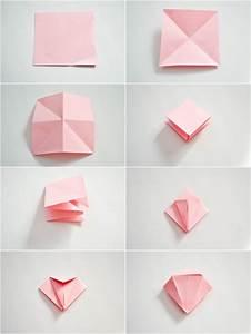 Fleur En Origami Facile : origami bouquet de fleur facile ~ Farleysfitness.com Idées de Décoration