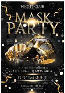 24 Cool Mask Party Flyer Templates  U2013 Design Freebies
