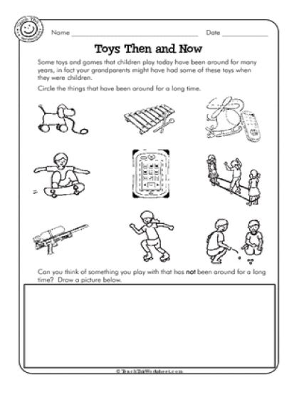 Toys Then And Now  History  Pinterest  Worksheets, Social Studies And Geography