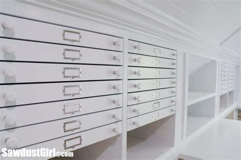 map drawers craft room storage sawdust girl