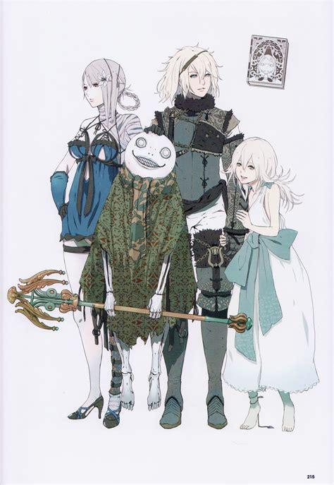nier replicant art book   character design game