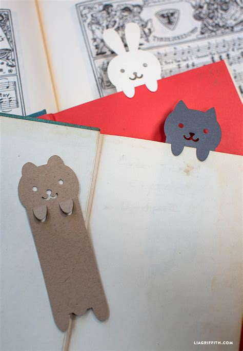 diy papercut animal bookmarks lia griffith