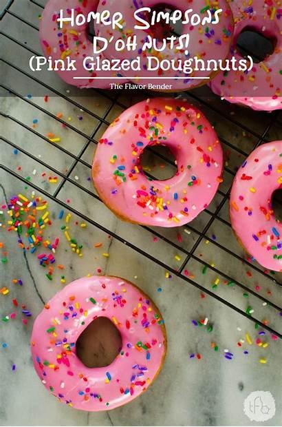 Donut Simpsons Doughnuts Recipes Homer Simpson Pink