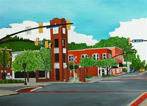 Time In Sc by Clock Tower Simpsonville Sc My Simpsonville Painting Is