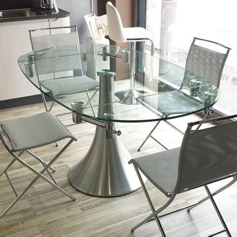 tavolo rotondo allungabile cristallo tavolo cristallo rotondo allungabile sedie in legno epierre
