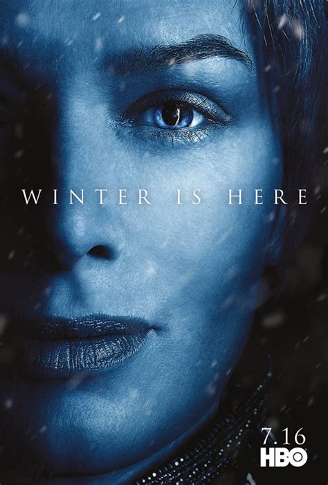 winter   hbo drops game  thrones season  posters