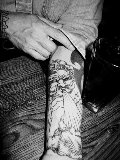 I am looking for a specific piece of art for a tattoo design. It is basically an old man with