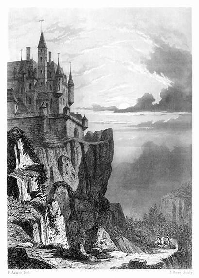 Castle Monuments Illustrations Buildings 1600 1200 Illustration
