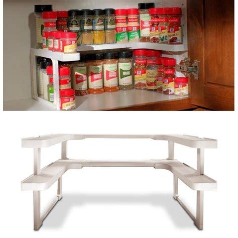 Spice Cupboard Organizer by Adjustable 2 Layers Spicy Shelf Kitchen Spice Organizer