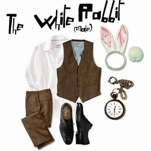 [: The male costume of The White rabbit for Alice in ...