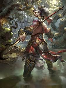 Original, Characters, Fantasy, Warrior, Forest, Man