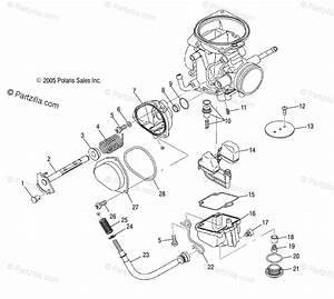 Polaris Atv 2013 Oem Parts Diagram For Engine  Carburetor