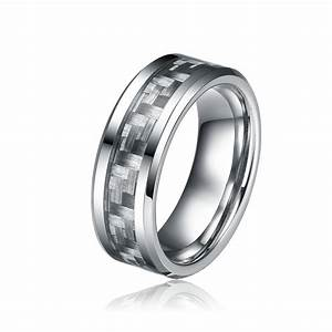 8mm grey carbon fiber ring tungsten carbide rings fashion for Carbon fiber wedding rings for men