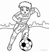 Coloring Playing Football Printable Field Popular sketch template