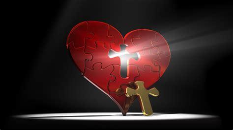 9-24-bo Red Puzzle Heart Cross Shaped Hole Light Shining
