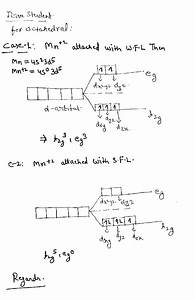 With The Help Of A Diagram Give The Splitting Of D