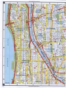Upper Manhattan Street Map of New York