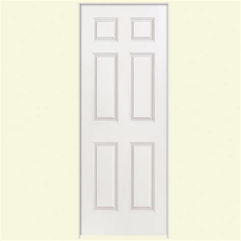 home depot 6 panel interior door masonite 24 in x 80 in smooth 6 panel hollow primed