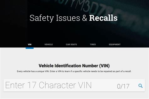 Recall On Vin Number by Does Your Car A Recall Here S How To Check Roadshow