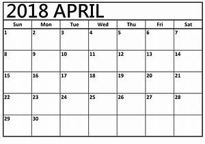 April 2018 Calendar With Notes - Free HD Images
