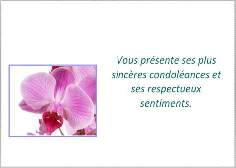 modèle carte de condoléances modele de condoleances sur carte de visite