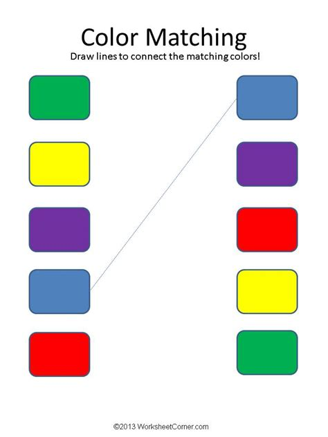 color matching activities for preschool free printable worksheets for preschoolers about colors 941