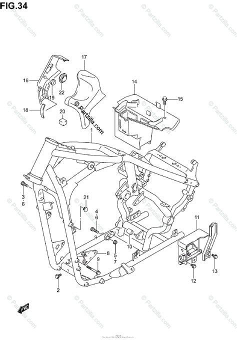 suzuki motorcycle  oem parts diagram  frame