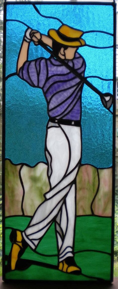 images  stained glass golfsports