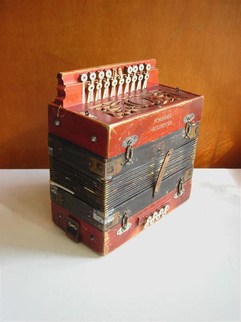 antique hohner accordion button box diatonic germany