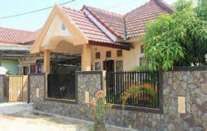 pagar rumah minimalis  batu alam  mempesona